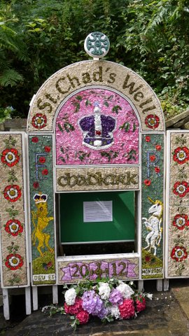 Well dressing Chadkirk Festival             Photo: Colin