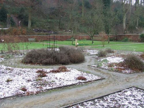 Chadkirk: The walled garden in winter            Photo: Artemosia