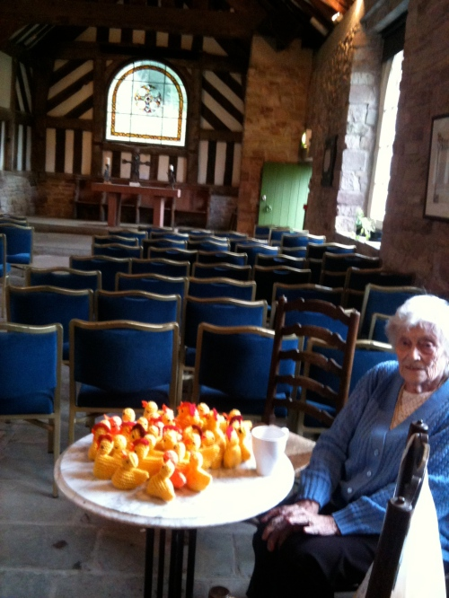 Chicks in the Chapel (knitted ones - for sale)