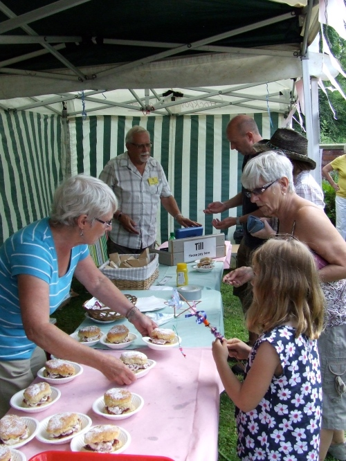Scones, cream and strawberries: a treat from the Friends of Chadkirk stall at the festival