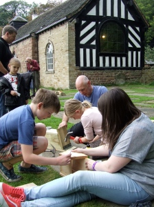 Bird and Bat Box making by the Chapel, Chadkirk. Photo: Artemisia