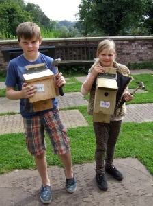 One of each - bat box  and bird box. Each with a different entrance. Photo: Artemisia