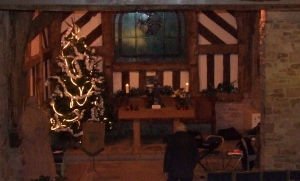 Chadkirk Chapel ready for Carol Service
