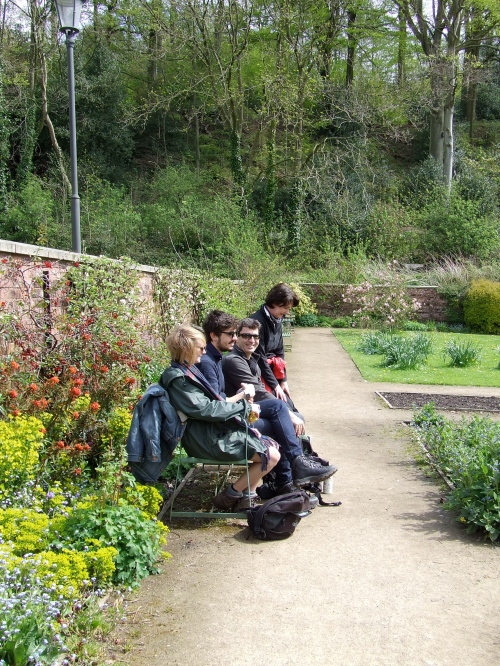 Visitors to the Walled Garden