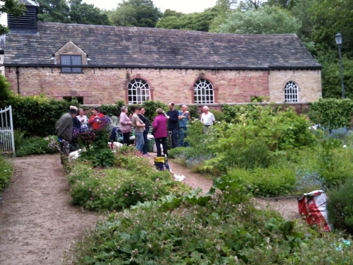 Tea break at the June Gardening Saturday