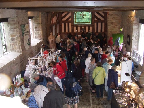 Bustling and browsing amongst the stalls in Chadkirk Chapel