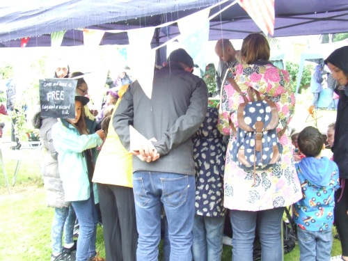 Shapedbynature stall attracts plenty of interest.